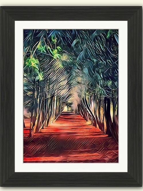 Apley Woods Yew Arch Photoart Framed Print