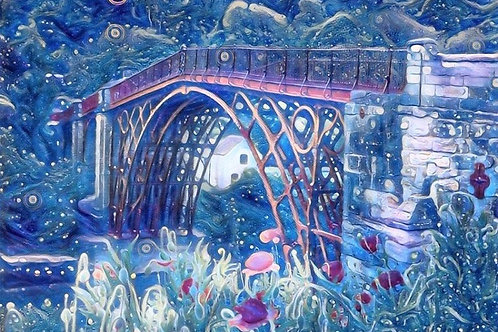 Magical Ironbridge Medium Mounted Print
