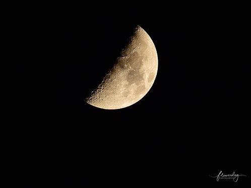 Half Moon Medium Mounted Print