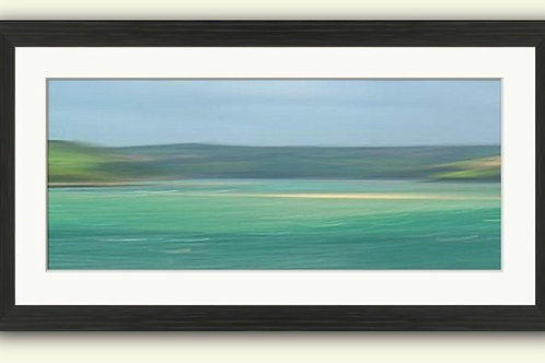 Camel Estuary Panorama Framed Print