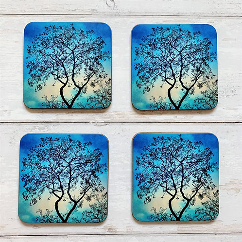 6 x Jade Silhouette Coasters