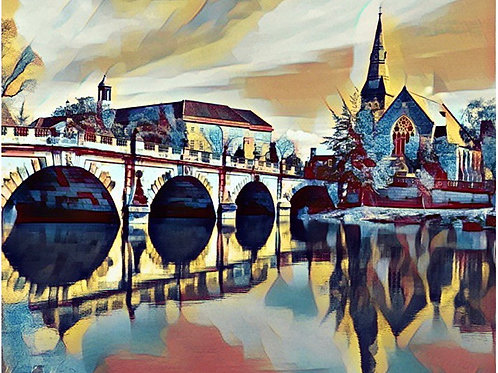 Shrewsbury Photoart Medium Mounted Print