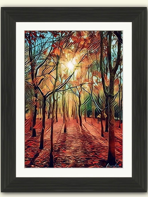 Beanhill Woods Photoart Framed Print