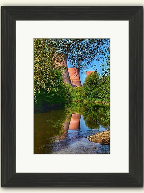 Towers Reflections Framed Print