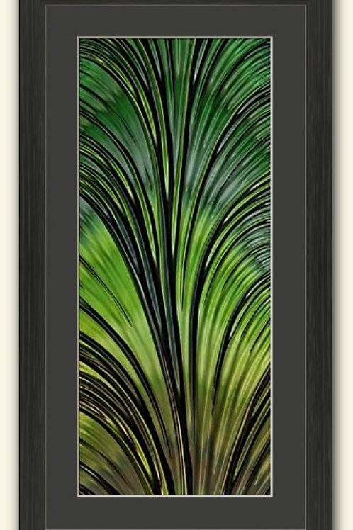Leaf Abstract Framed Panorama Print