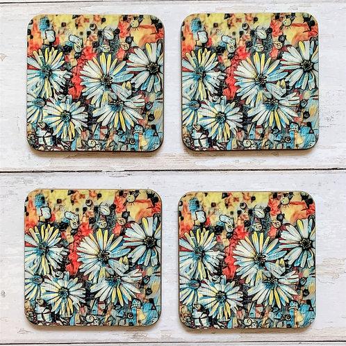 4 x Daisies Photoart Coasters
