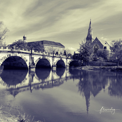 English Bridge - Black and White