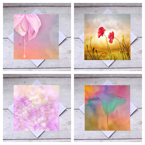 Floral - Mixed 1 Greeting Cards