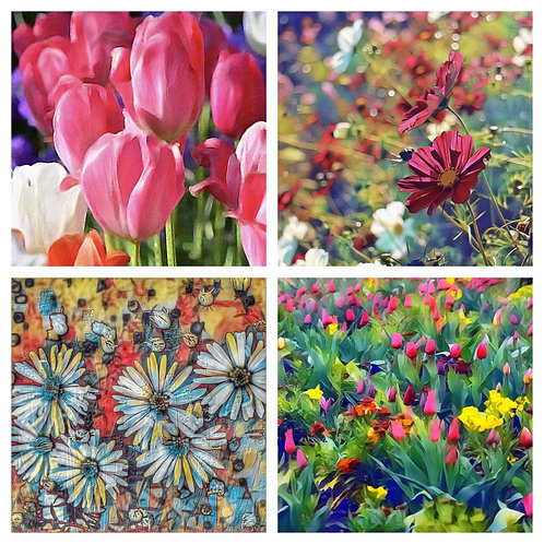 The Garden Flowers Collection - Greeting Cards