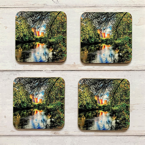 4 x Nature v Industry Coasters