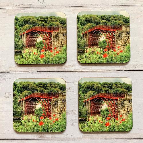4 x Ironbridge & Poppies Coasters