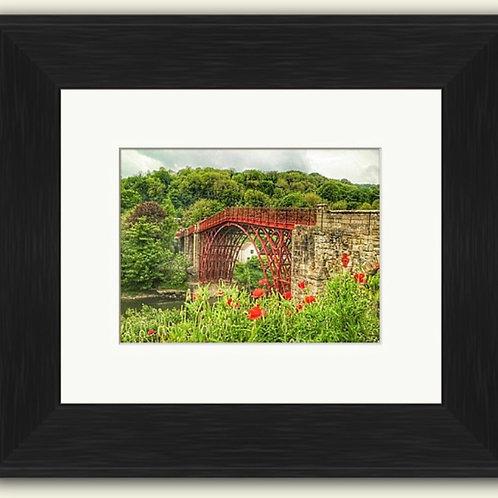 Ironbridge and Poppies Framed Print