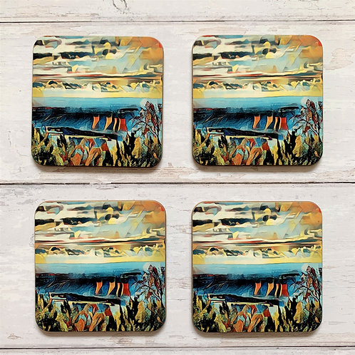 4 x The Four Towers Coasters
