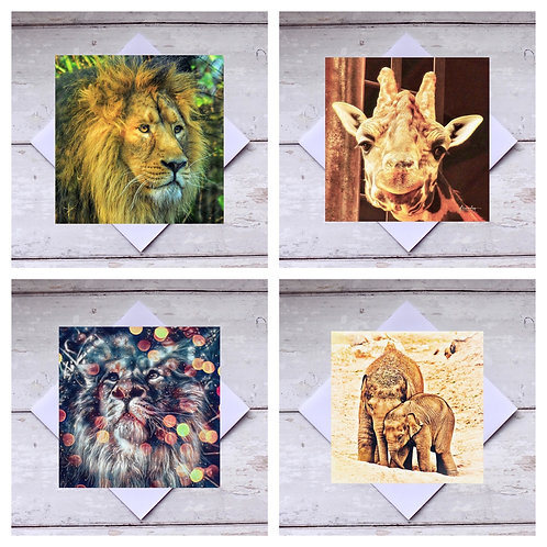 Zoo Animals Greeting Cards