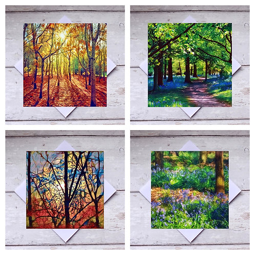Trees - Mixed 2 Greeting Cards