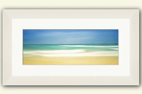 Calm Shores Panorama Framed Print