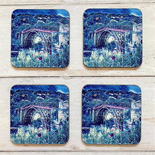 6 x Magic Ironbridge Coasters