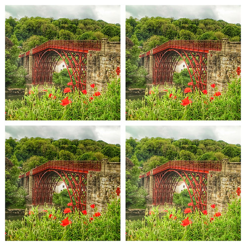 The Ironbridge & Poppies Collection - Greeting Cards