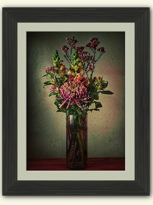 Tall Bouquet Photoart Framed Print