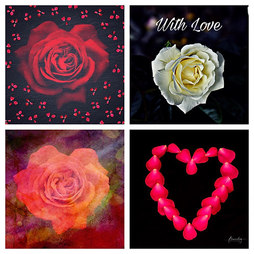 The Rose Hearts Collection - Greeting Cards