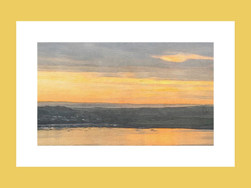 Waterscape Sunset Personalised eCard