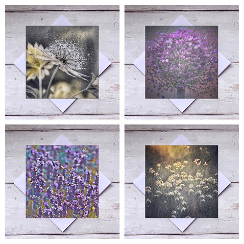 Flowers Photoart - Mixed 1 Greeting Cards