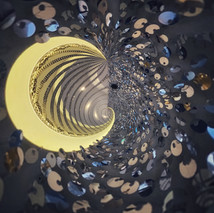 Moon and Stars Abstract