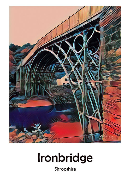 Ironbridge A4 Poster Photoart Mounted Print