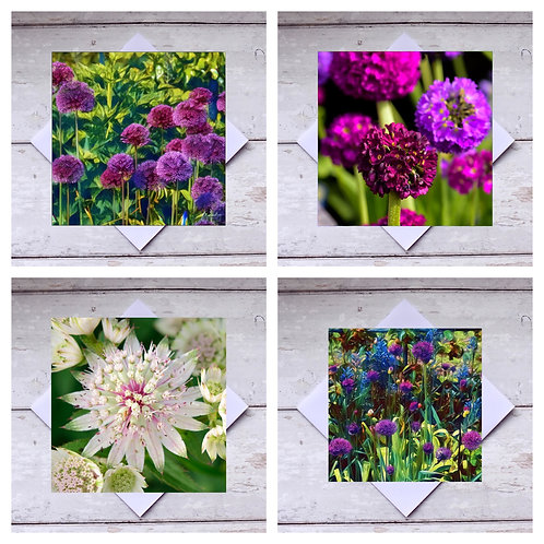 Flowers - Mixed 4 Greeting Cards