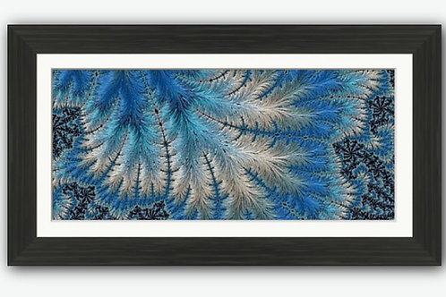 Blue Feathers Abstract