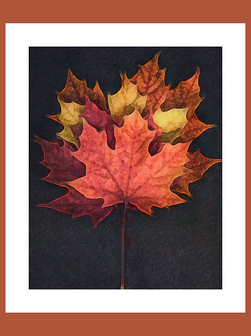Autumn Leaves Photoart Personalised eCard