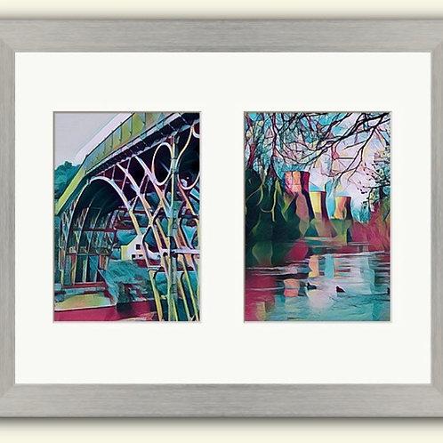 Ironbridge & Towers Duo Photoart Framed Prints