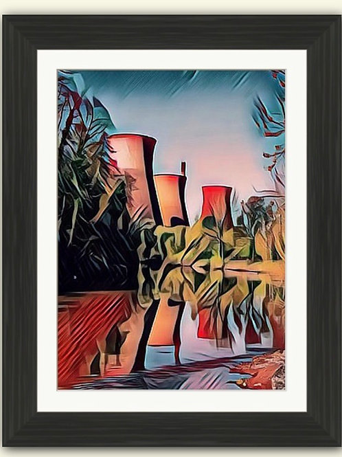 Red Towers Photoart Framed Print