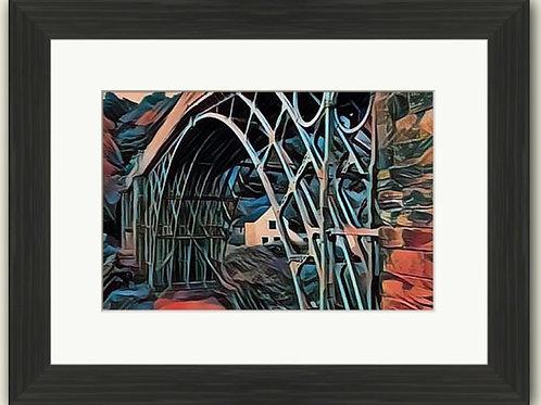 Red Ironbridge Cropped Framed Print