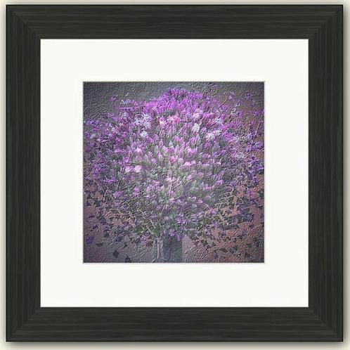 Embossed Allium Framed Print