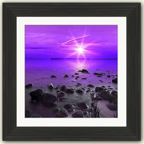 Purple Sunset Square Framed Print