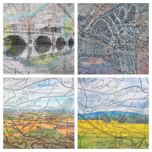 The Shropshire Map Collection - Greeting Cards