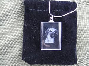 RECTANGULAR GLASS PENDANT