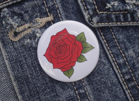 Rose pin badge