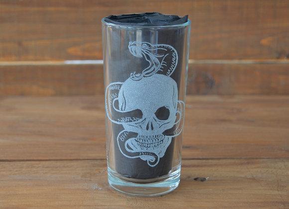 skull snake drinking glass