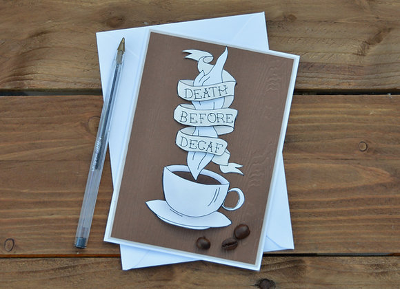 Coffee greetings card