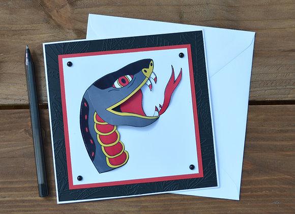 snake tattoo card