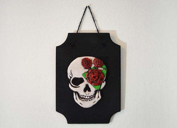 3D Skull Wall Art Plaque
