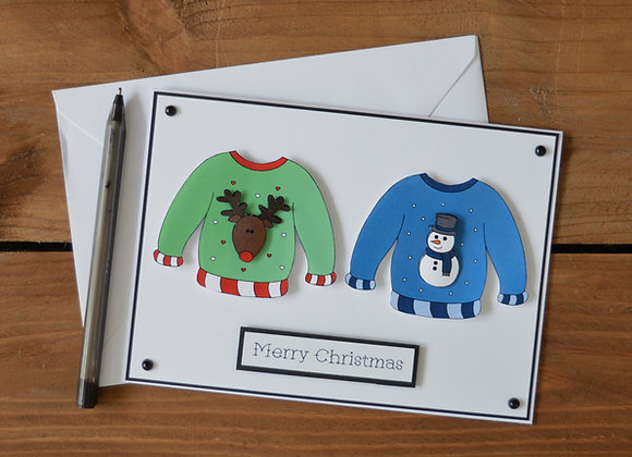 Couples Christmas jumper card