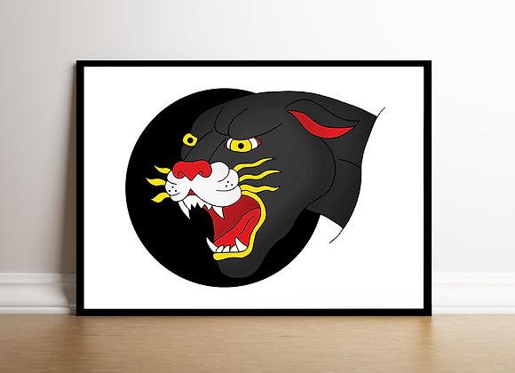 Panther Art Print A4