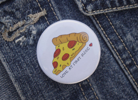 Illustrated Pizza Badge