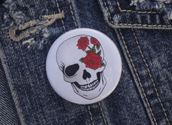 Skull Pin Badge
