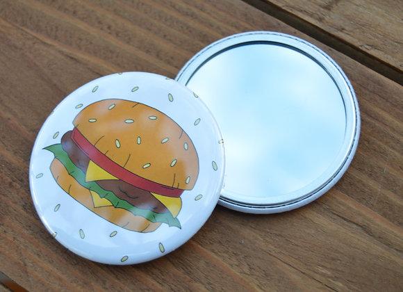 Burger pocket mirror