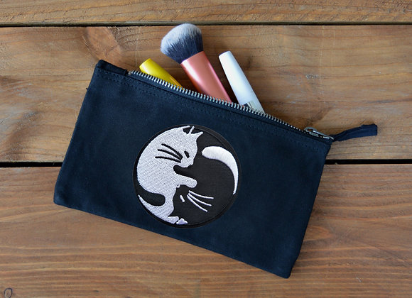 Cat Yin Yang Storage Purse