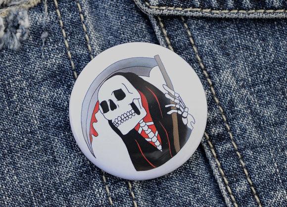 Grim Reaper Pin Badge